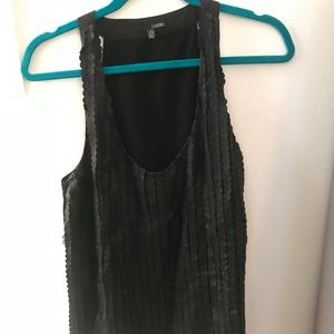 Leather detail tank top